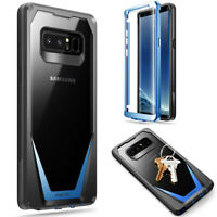 Poetic Shockproof For Galaxy Note 8 Case,Scratch Resistant Back Cover Blue