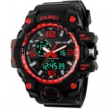 SKMEI Men-Women Sports Watch 50M Swimming LED Digital Military Big Dial 2019-RED
