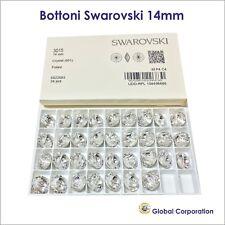 36 BOUTONS SWAROVSKI ORIGINAUX ORIGINAL 14mm CRISTAL ART. 3015 CRYSTAL COUDRE