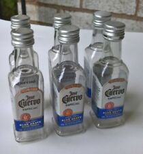 6 EMPTY Jose Cuervo Tequila Silver Plastic Liquor Bottles New Decal n Shape