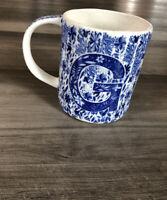 Anthropologie Folksong Monogram Mug Coffee Cup New Letter G Stoneware Alphabet