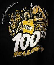VCU Rams Basketball 100th Consecutive Sellout Black T Shirt Adult XL Extra Large