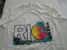 Rio Brasil T-shirt new without tags small white woman or mens