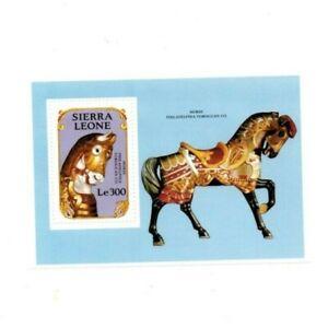 VINTAGE CLASSICS - Sierra Leone 1273 - Carousels - Souvenir Sheet -MNH