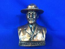 Boy Scout Sir Robert Baden Powell Bronze Bust 1Lb. 6oz.