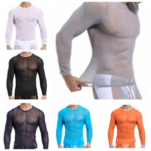 Mens Base Layer Sports T-Shirt Quick Dry Jogging Gym Compression Stretch Tee Top