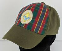 Cub Scout Webelo Plaid Green Cap Hat Uniform Adjustable Hook & Loop Very CLEAN