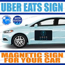 12x18 Car Magnets UBER eats Magnetic Car Auto Truck Signs - QTY-2 (a pair) AMBPM