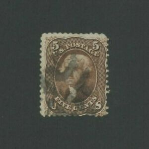 1863 United States Postage Stamp #76 Used Average Fancy Postal Cancel
