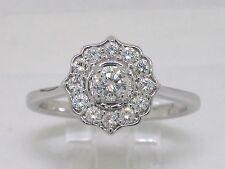 Diamant Brillant Ring 585 Weißgold 14Kt Gold total 0,52ct Wesselton