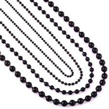 Collares y colgantes de bisutería color principal negro de acero inoxidable