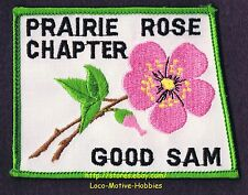 LMH PATCH Badge GOOD SAM CLUB  Canada PRAIRIE ROSE CHAPTER Rosetown Saskatchewan