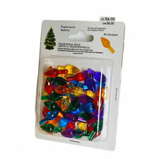 Mr. Christmas Ceramic Christmas Tree Replacement Bulb Set ~ 50 Multicolor Bulbs