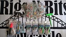 Sea fishing Rigs x 20 - Spinners - Float kit -Sinkers - Feathers - High quality