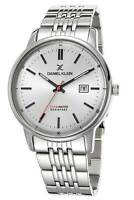Daniel Klein 44mm Analog Mens Fashion Quartz Watch Silver Tone Stainless Watch