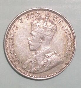 1913 British East Africa 25 Cent nice details