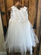 White First Holy Communion Or Flower Girl Dress Size 8
