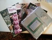 016 Lot of Leisure Arts Publications Booklets Afghans, Basket Case