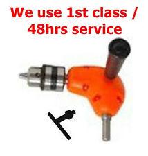 Right angle drill attachment & chuck clé utile d'utiliser perceuse en étroit espace