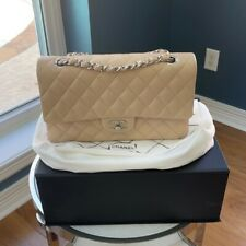Beige CHANEL Classic Medium Double