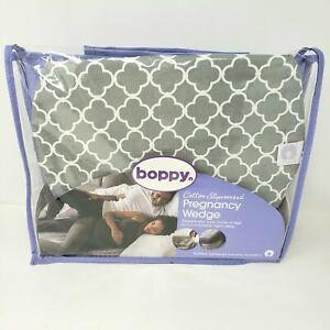 Boppy Pregnancy Wedge Scallop Petite Trellis Gray & White Maternity Wedge New