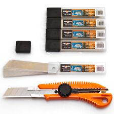 Cuttermesser Satz Teppichmesser Abbrechmesser Cutter 18 mm + 50 Ersatzklingen