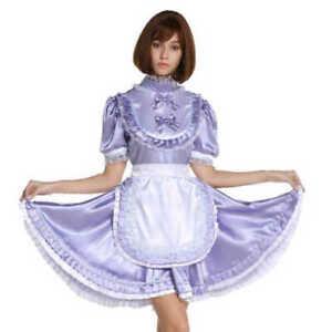 Girly maid satin lockable dress cosplay costume custom