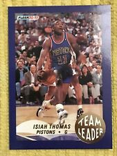 1992-93 Fleer Team Leaders Isiah Thomas #8