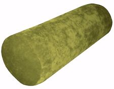 ma02g Green Sofa Chenille Velvet Bolster CASE Tube Neck Roll Cushion COVER Size