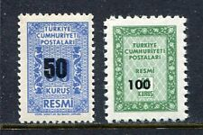 30936) TURKEY 1963 MNH** Officials 2v. Scott# O82/O83