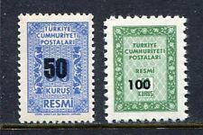 30936) TURKEY 1963 MNH** Officials 2v. Scott# O82/O83