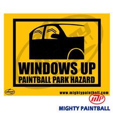 Paintball Safety Sign - Windows Up (Mp-Fe-S009)