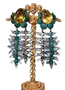 Iradj Moini OOAK Genuine Emerald & Citrine Earrings