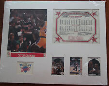 Clyde Drexler Photo, Stats, Player Cards - Dream Team -Matted and Ready to Frame