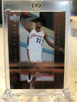 2003-04 Upper Deck LeBron James Rookie Exclusives Card RC