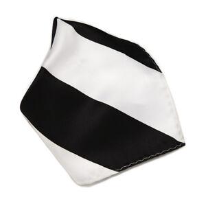 BLACK and WHITE Stripes Design Handkerchief Pocket Square Hanky