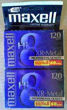 MAXELL - HI 8 - 8 MM CAMCORDER VIDEOTAPE - 120 - XR-METAL - (2) PACK - SEALED