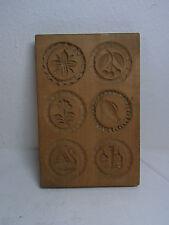 Vintage Wooden German SPRINGERLE COOKIE MOLD 6 Motive #AZ1
