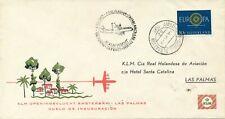 1e KLM vlucht Amsterdam-Las Palmas (1960) - Open klep
