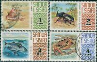 Samoa 1972 SG390-393 Shell Beetle Fish Crab FU