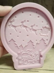 Silicone Mould, Christmas Scene Believe Snow Globe Silicone Mold Wax Melt Resin