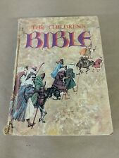 The Children's Bible Golden Press vintage illustrated hardcover Inscribed H5