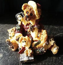 10 Boyds Bears Bearstone Ornaments group lot from 1993-97 christmas related