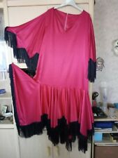 ROBE ROUGE STYLE FAMENCO A DEGUISEMENT DRAG QUEEN GRANDE TAILLE 54/56
