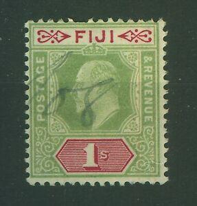 FIJI  -  1903 SG 112  1/- GREEN  - FINE USED