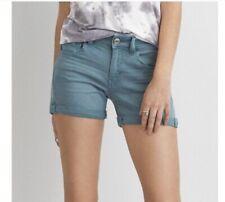 Women American Eagle Teal Twill Skindigo Shorts Size 6 NWT