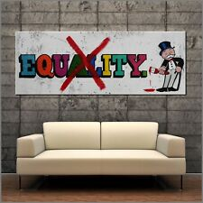 Monopoly Man Equity Urban Pop Street Art Textured Canvas Painting 160cm x 60cm