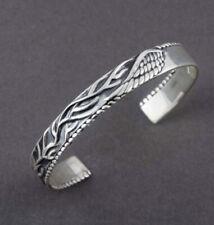 Fine Jewelry 18 Kt Hallmark Real Solid White Gold Men'S Cuff Bracelet 22 Grams