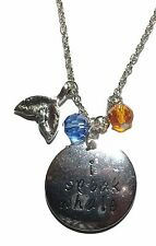 """Disney's Finding DORY """" I SPEAK WHALE """" Charm Necklace with 20"""" Chain"""