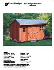 6' X 12' Saltbox Style Garden Storage Shed Project Plans - Design # 70612